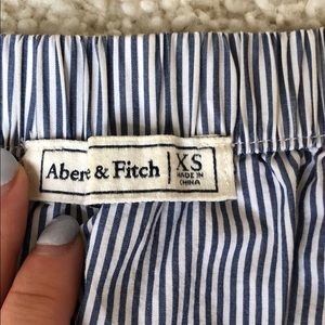 Abercrombie & Fitch Tops - A&F off the shoulder blue pinstripe blouse